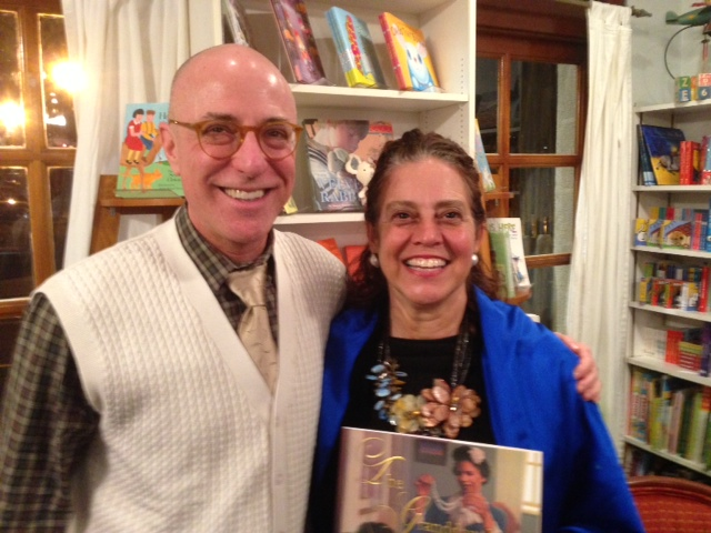 Reading at Watchung Booksellers, with Editor Arthur Levine
